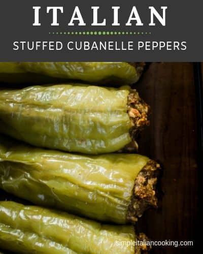 Italian stuffed Cubanelle peppers recipe