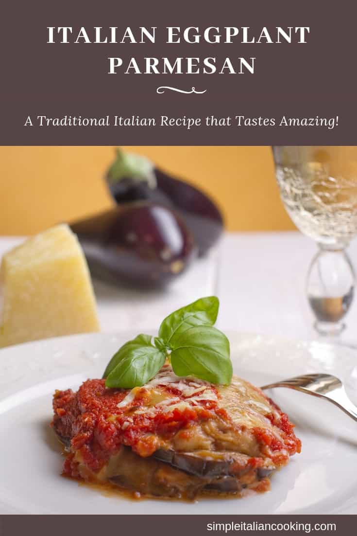 Easy Italian Eggplant Parmesan Recipe That uses Breaded Baked Eggplant instead of Frying!  Not only is it healthier, but it save time and avoids messy frying!  Perfect for Italian holidays such as Christmas and Christmas Eve. #EggplantParmesan #eggplantrecipes #HealthyEggplantRecipes #HealthyItalianRecipes #RecipesforChristmas #ItalianChristmasRecipe #Authentic ItalianRecipes