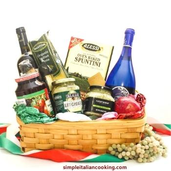 dinner for two italian gift basket