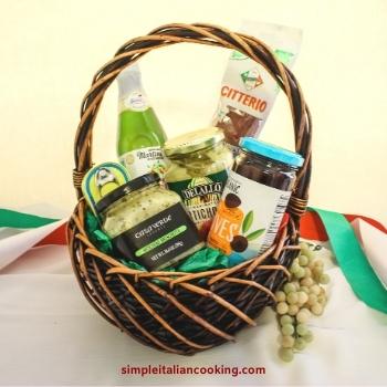 italian anti pasto gift basket