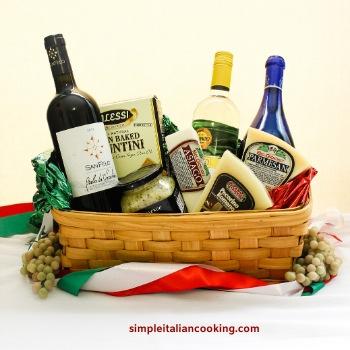 wine diy gift basket italian