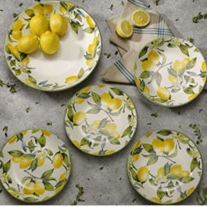 Mikasa Italian pasta bowl set with lemons