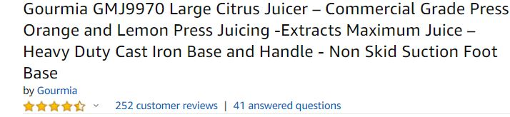 gourmia-large-manual-juicer-for-lemonade-reviews